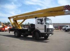 Услуги по аренде автовышкиПМС 328 на базе МАЗ 5337 в Бресте и Брестской области по низким ценам